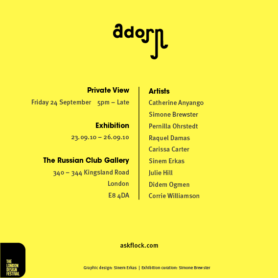 Adorn, a collective entry in the London Design Festival
