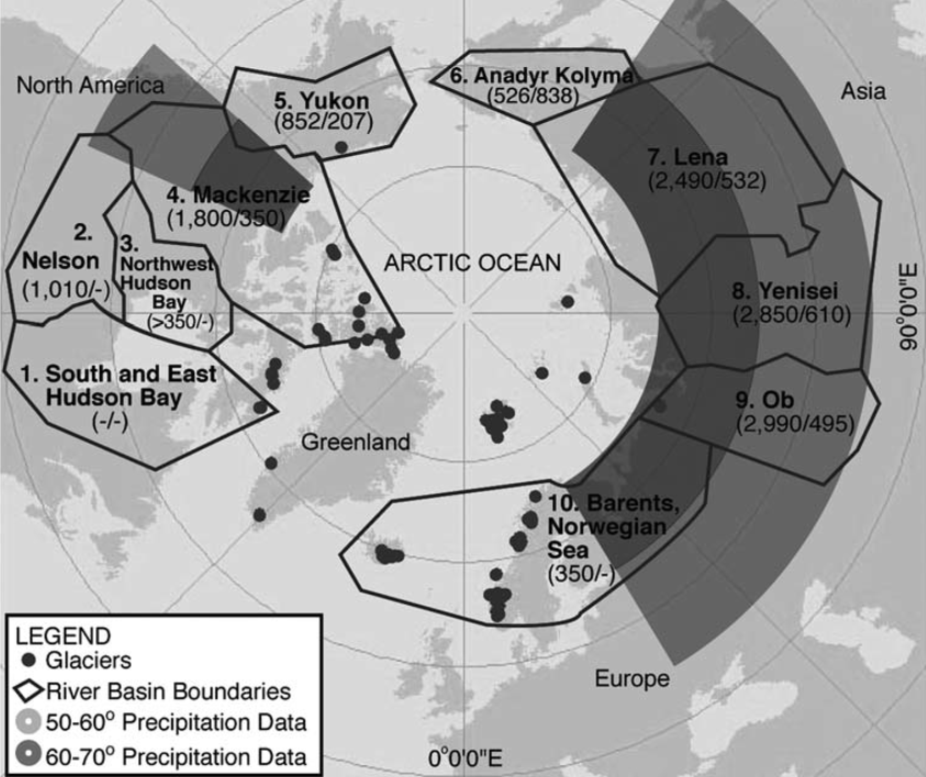 Observational Evidence of Increases in Freshwater Inflow to the Arctic Ocean